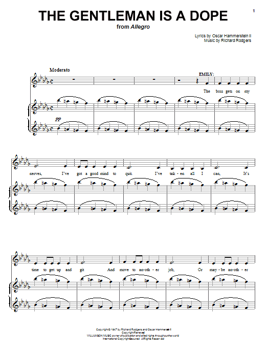 The Gentleman Is A Dope Sheet Music