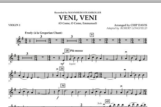 Veni, Veni (O Come, O Come Emmanuel) - Violin 1 (Orchestra)