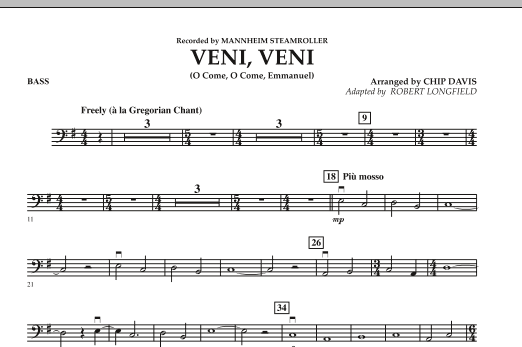 Veni, Veni (O Come, O Come Emmanuel) - Bass (Orchestra)