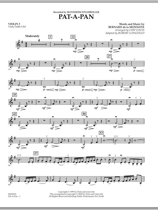 Pat-A-Pan - Violin 3 (Viola Treble Clef) (Orchestra)