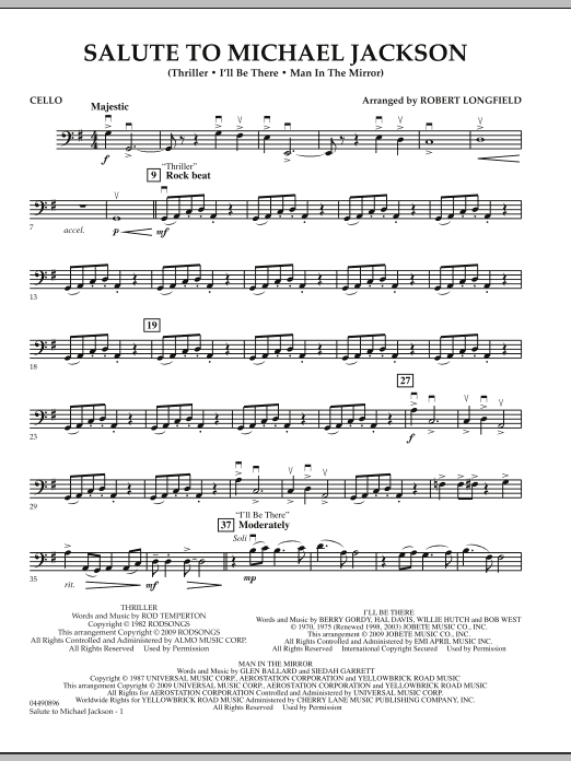 Salute to Michael Jackson - Cello (Orchestra)