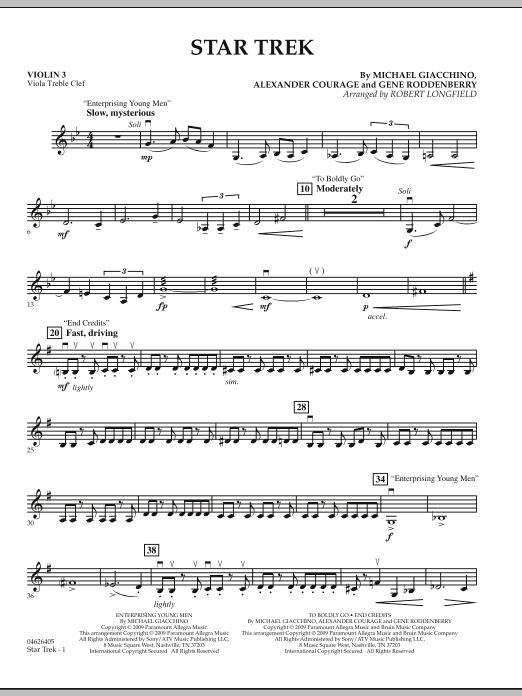 Star Trek - Violin 3 (Viola Treble Clef) (Orchestra)