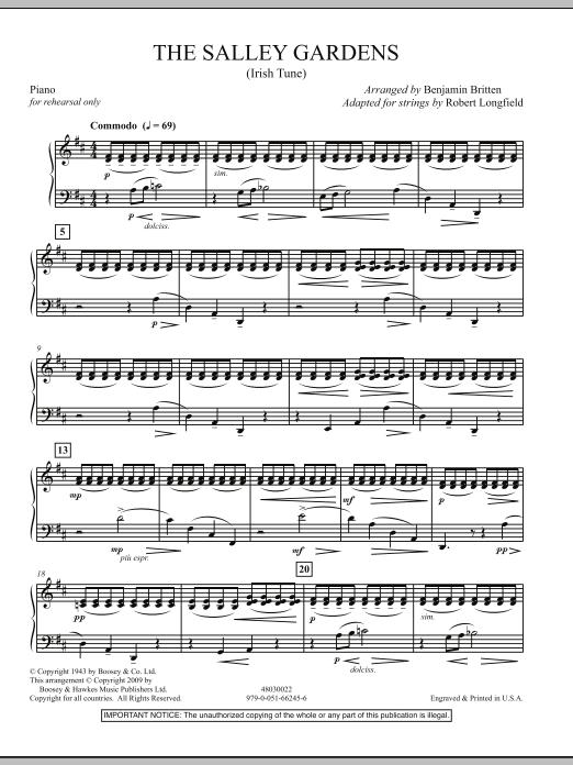 HL DDS 0000000000524042 - Down By The Salley Gardens Britten Sheet Music Pdf