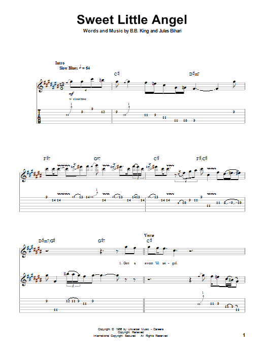 Sweet Little Angel : Sheet Music Direct