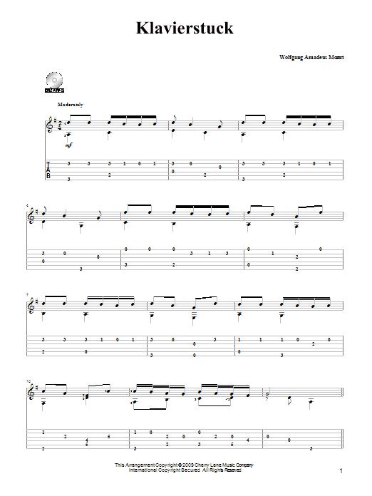 Piano Piece (Klavierstuck) Sheet Music