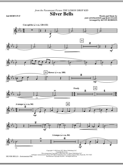 Silver Bells - F Horn 2 Sheet Music