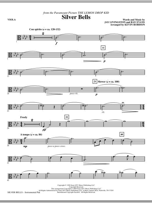 Silver Bells - Viola Sheet Music