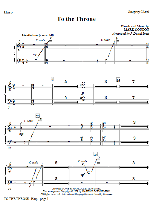 To The Throne - Harp Sheet Music