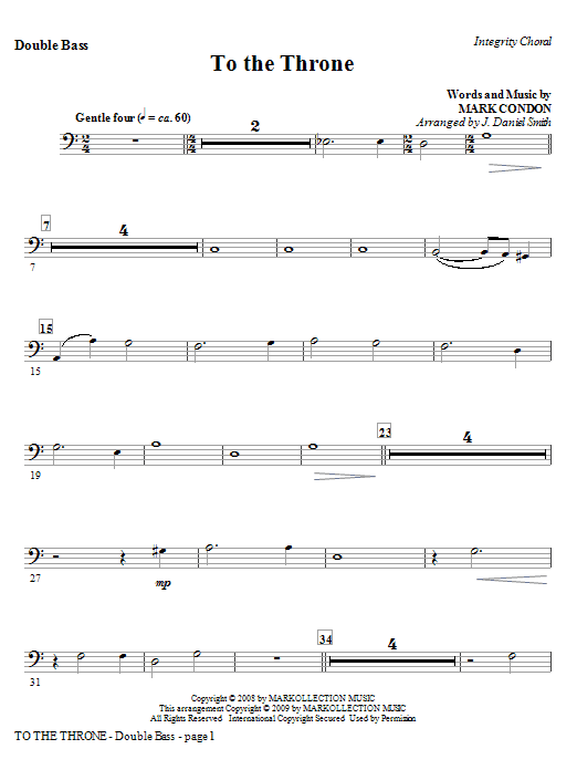 To The Throne - Alto Sax (Horn sub.) Sheet Music