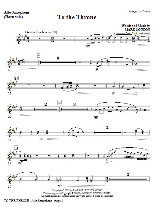 To The Throne - Tenor Sax (Trombone 2 sub.) Sheet Music