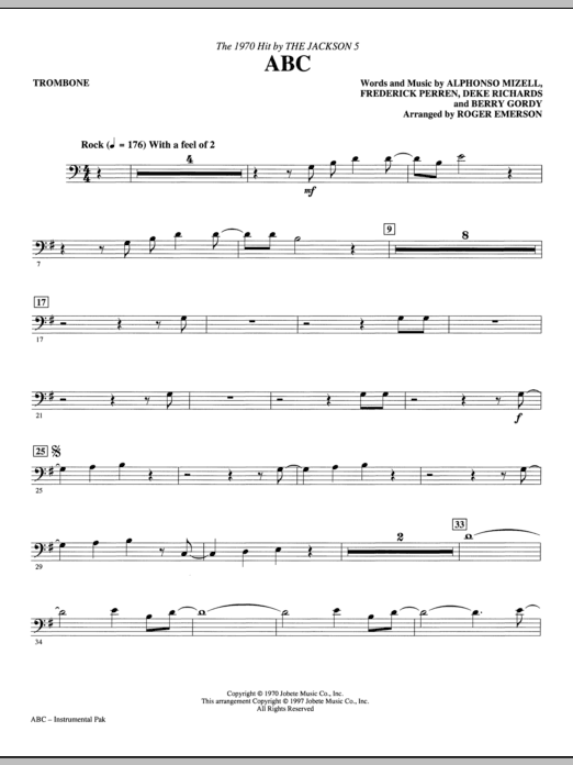 ABC - Trombone Sheet Music