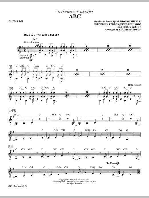 ABC - Guitar Sheet Music