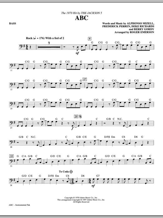 ABC - Bass Sheet Music