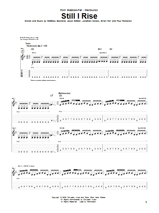 Still I Rise Sheet Music