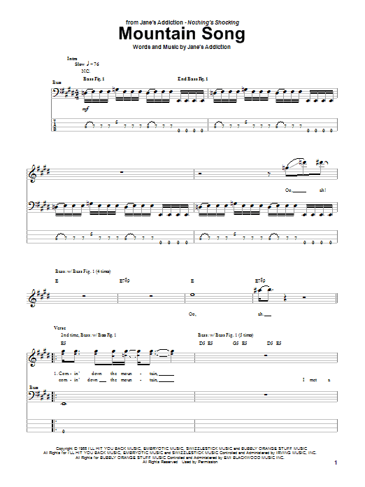 Mountain Song Sheet Music