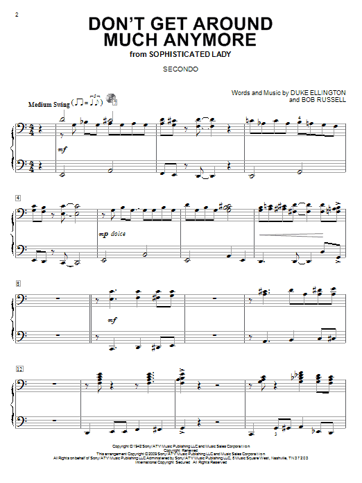 Don't Get Around Much Anymore Sheet Music