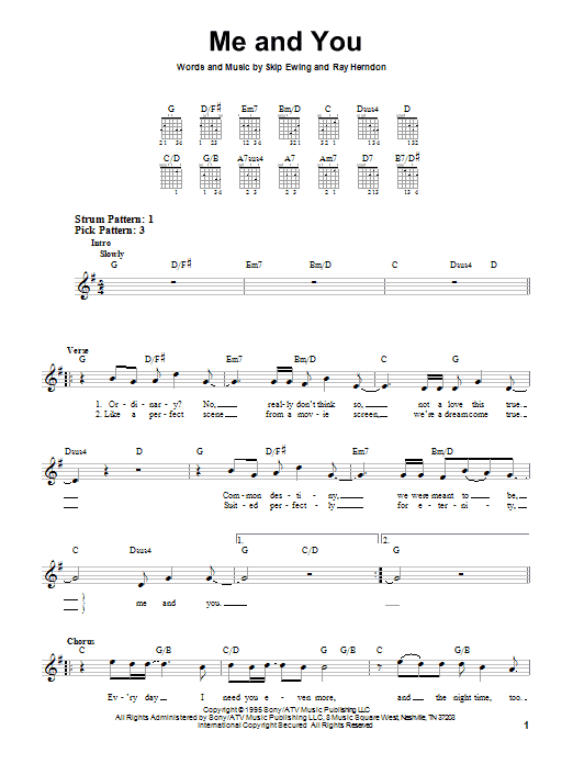 Me And You (Easy Guitar)