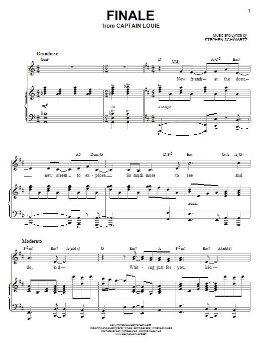 Finale (Piano, Vocal & Guitar (Right-Hand Melody))