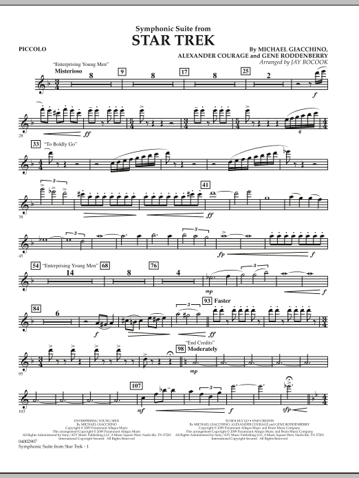 Symphonic Suite from Star Trek - Piccolo (Concert Band)