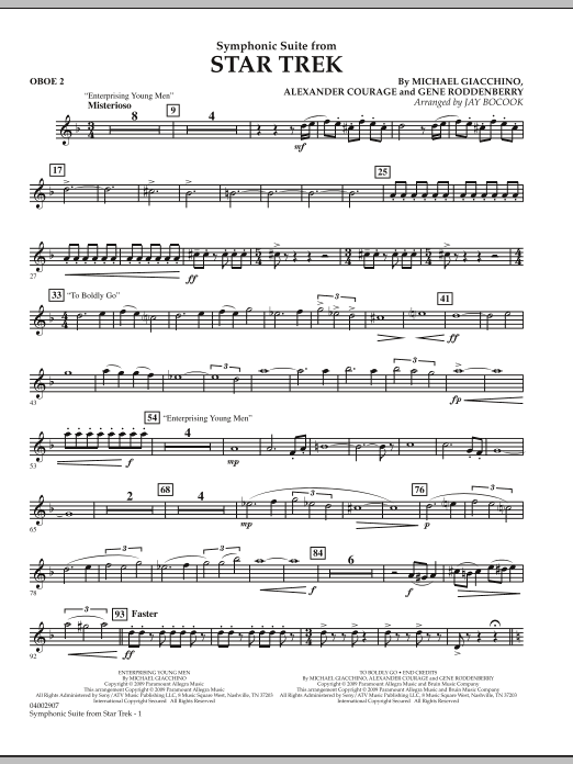 Symphonic Suite from Star Trek - Oboe 2 (Concert Band)