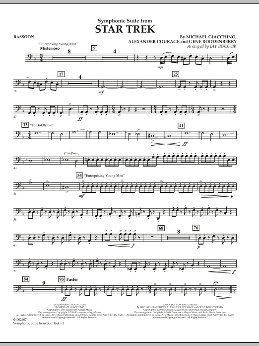 Symphonic Suite from Star Trek - Bassoon (Concert Band)