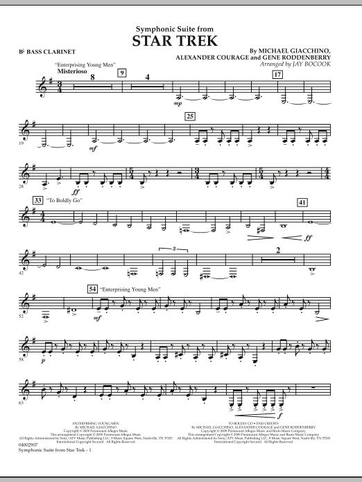 Symphonic Suite from Star Trek - Bb Bass Clarinet (Concert Band)