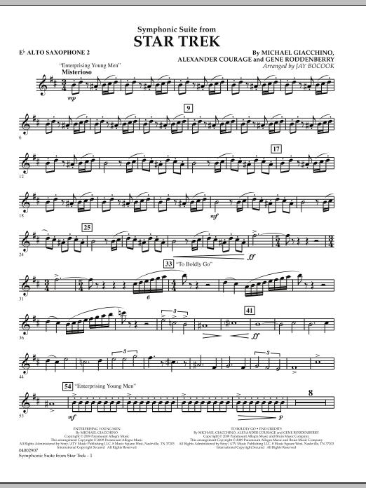 Symphonic Suite from Star Trek - Eb Alto Saxophone 2 (Concert Band)
