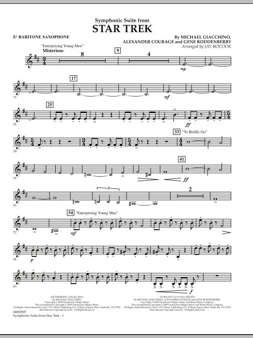 Symphonic Suite from Star Trek - Eb Baritone Saxophone (Concert Band)