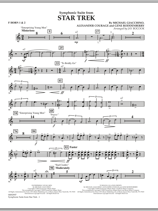 Symphonic Suite from Star Trek - F Horn 1 & 2 (Concert Band)