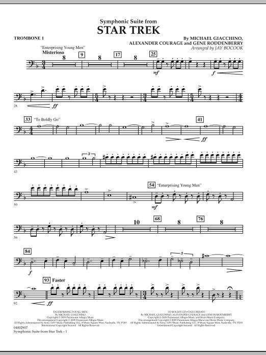 Symphonic Suite from Star Trek - Trombone 1 (Concert Band)