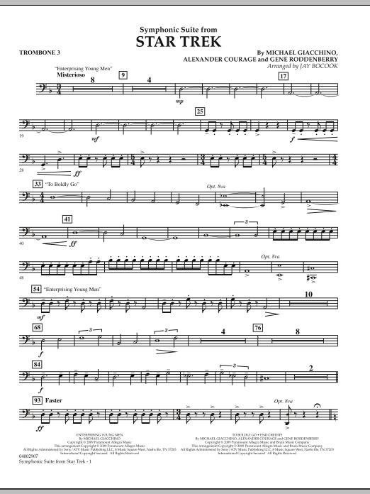 Symphonic Suite from Star Trek - Trombone 3 (Concert Band)