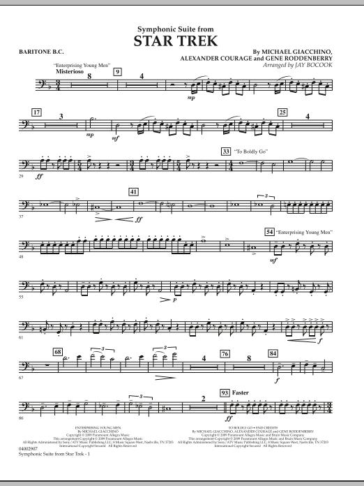 Symphonic Suite from Star Trek - Baritone B.C. (Concert Band)