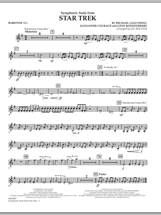 Symphonic Suite from Star Trek - Baritone T.C. (Concert Band)