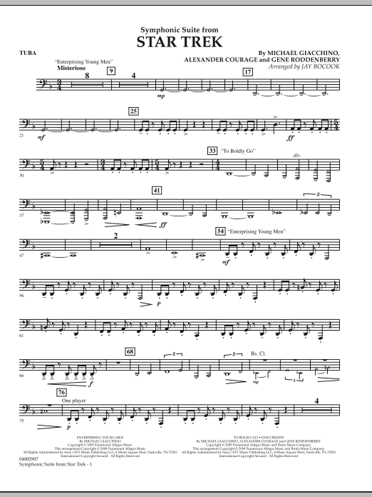 Symphonic Suite from Star Trek - Tuba (Concert Band)