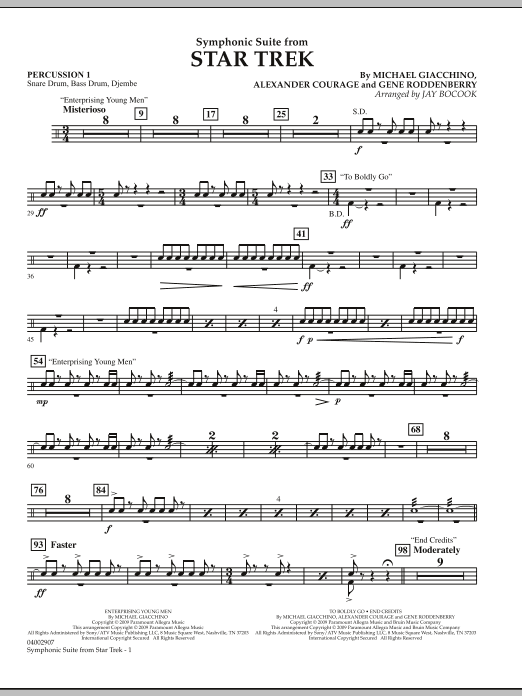 Symphonic Suite from Star Trek - Percussion 1 (Concert Band)