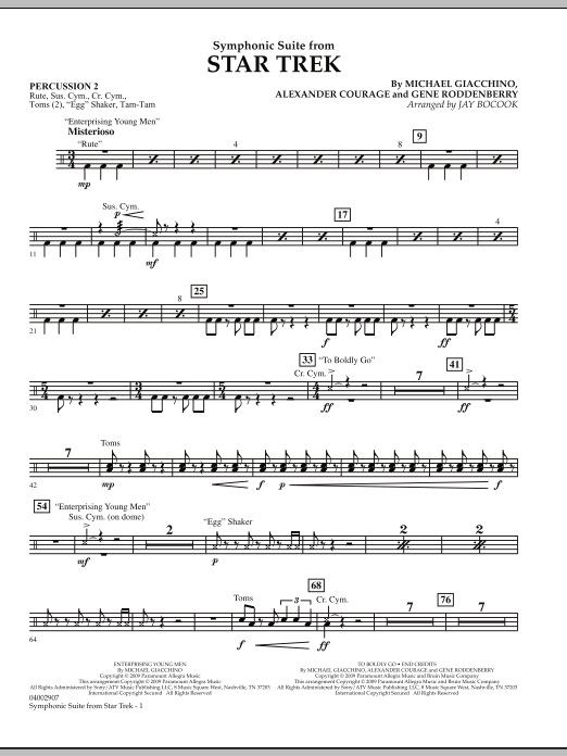 Symphonic Suite from Star Trek - Percussion 2 (Concert Band)