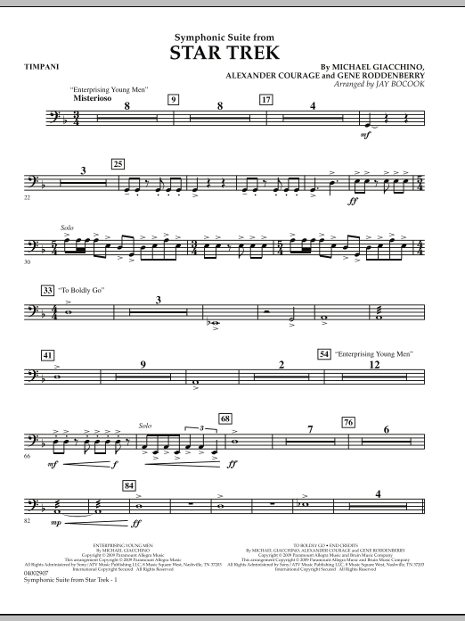 Symphonic Suite from Star Trek - Timpani (Concert Band)