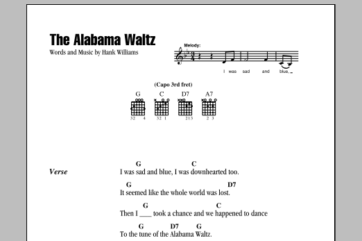 The Alabama Waltz (Guitar Chords/Lyrics)