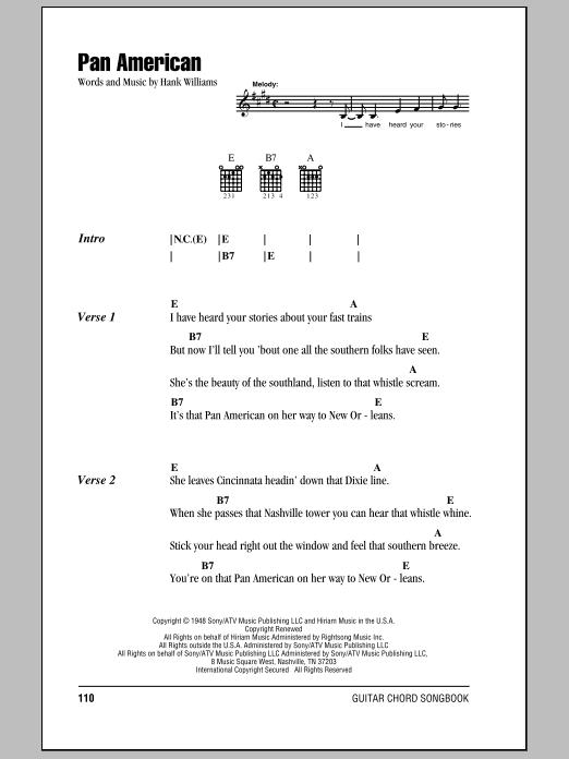 Pan American Sheet Music