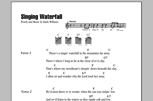 Singing Waterfall Sheet Music
