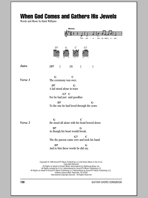 When God Comes And Gathers His Jewels Sheet Music