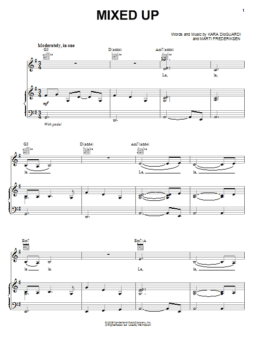 Mixed Up Sheet Music