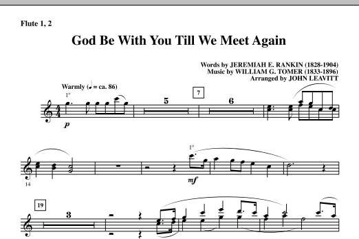 God Be With You Till We Meet Again - Flute 1 & 2 (Choir Instrumental Pak)