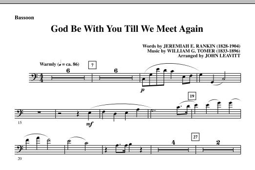 God Be With You Till We Meet Again - Bassoon (Choir Instrumental Pak)