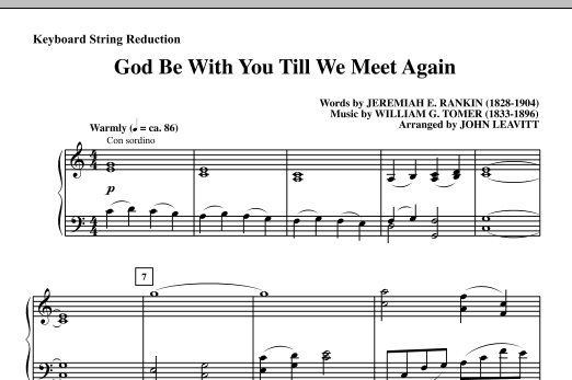 God Be With You Till We Meet Again - Keyboard String Reduction Sheet Music