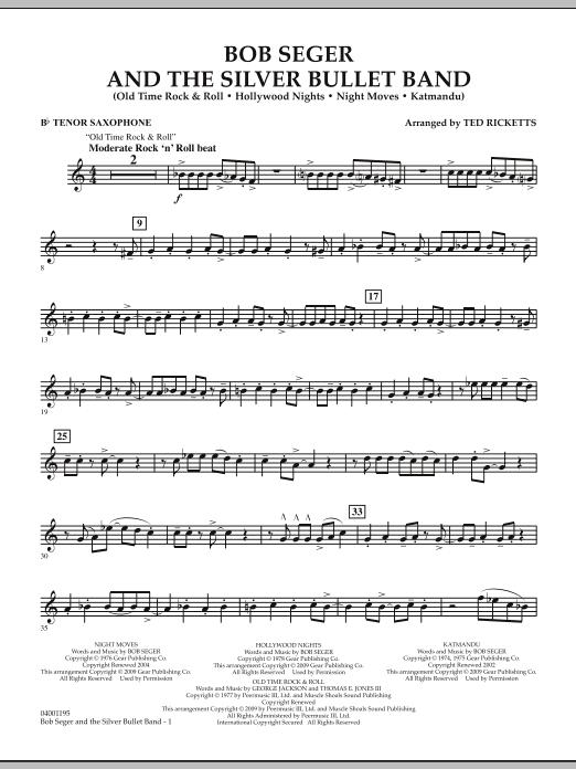 Bob Seger and The Silver Bullet Band - Bb Tenor Saxophone (Concert Band)
