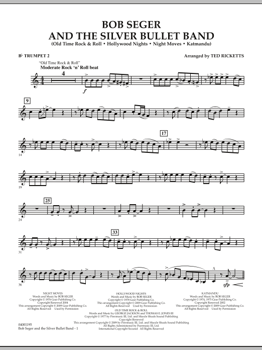 Bob Seger and The Silver Bullet Band - Bb Trumpet 2 (Concert Band)
