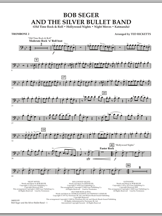 Bob Seger and The Silver Bullet Band - Trombone 2 (Concert Band)