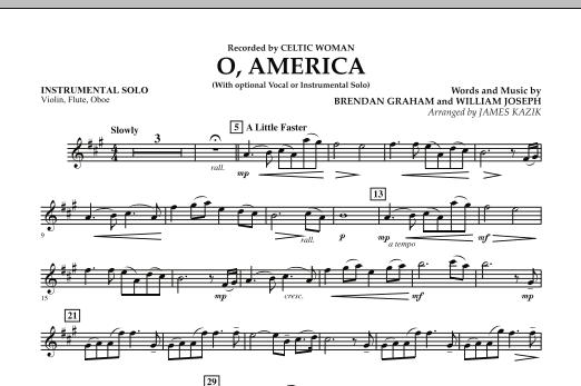 O, America - Instrumental Solo - Vln.Fl.Ob (Orchestra)