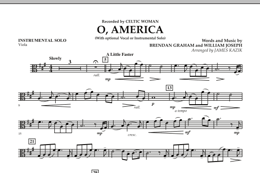 O, America - Instrumental Solo - Viola (Orchestra)